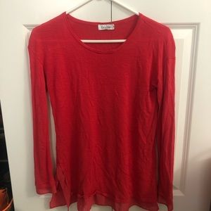 Red Calvin Klein long sleeve shirt